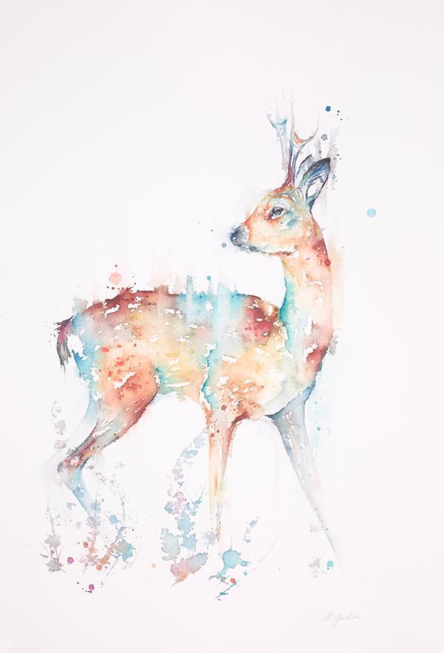 清新自然动静结合的动物水彩画!