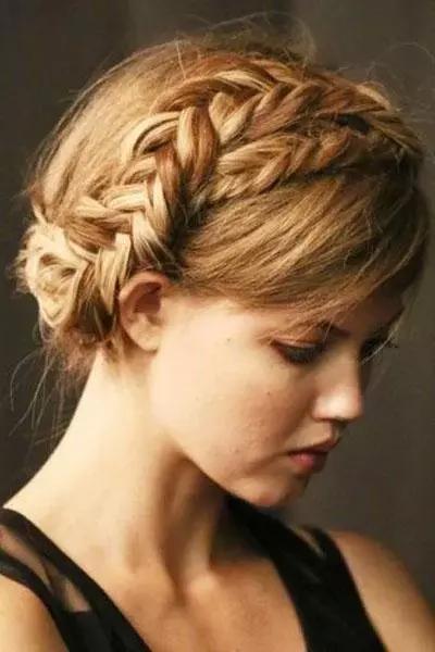编织发型图片