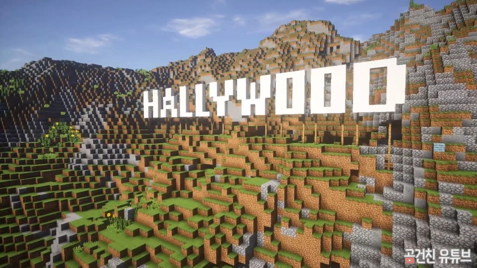《我的世界》中还原《守望先锋》好莱坞地图