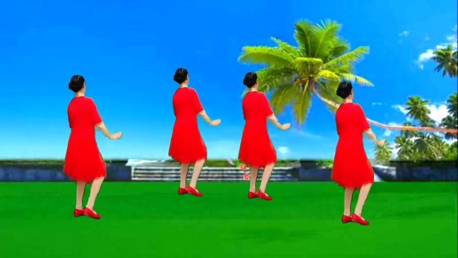 背面演示广场舞《心相印手牵手》原创32步,欢快动感易学