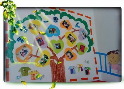 照片墙幼儿园主题亲情树