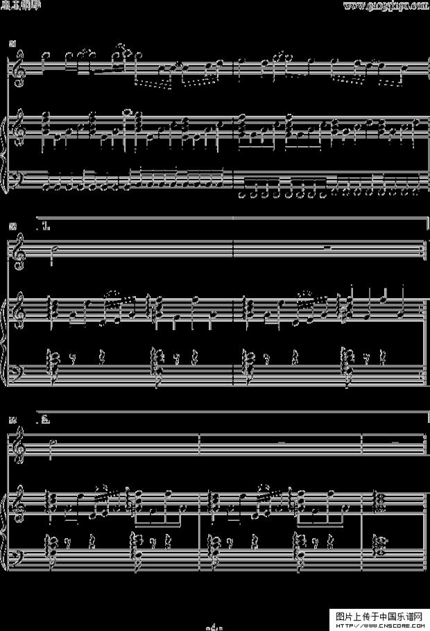 三寸天堂曲谱电子琴-钢琴谱 老男孩 五线谱