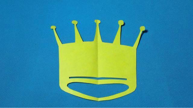 剪纸王冠皇冠 儿童剪纸教程大全 亲子手工diy