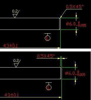 CAD中命令的标注_360v命令cad倒角下载字体图片