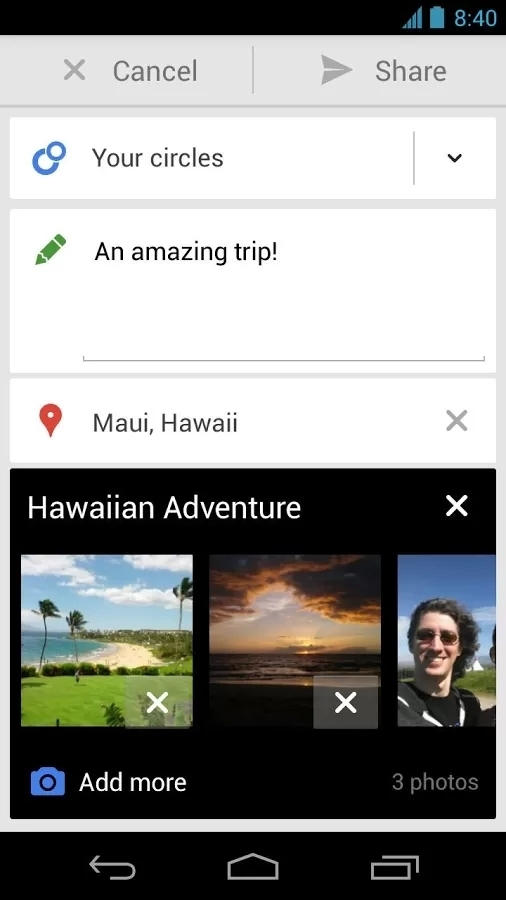 Google+截图4