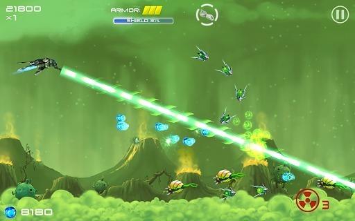 《外星飞机(Jets Aliens Missiles)》是一款Android平台飞行游戏,一架飞船飞往了外太空,去寻找新的殖民地,但是途中遭遇了外星人的攻击,你的飞船配备有帝国*的武器系统,击杀外星人,收集能量来购买更强大的武器和升级自己的飞船。 以上描述中存在违反广告法的内容,自动用*代替