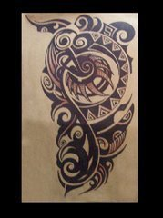 谁有树林的纹身,岩石的纹身,正在下雨时的纹身.求图.有一个也行!