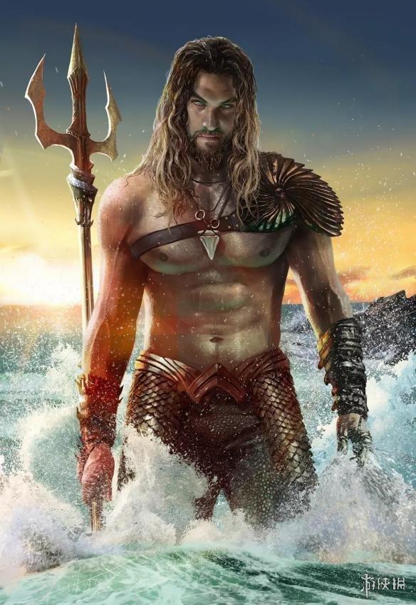 dc电影《海王》首曝海报 亚瑟半裸下水操控鲨鱼大军