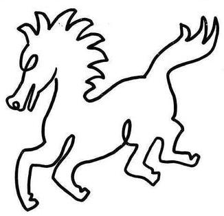简笔画马怎么画