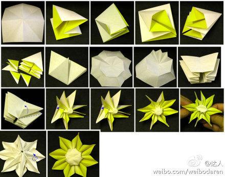 找各种花的折法,太复杂的就不要了