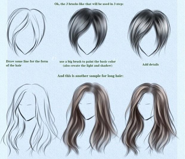 手绘头发该怎么画?