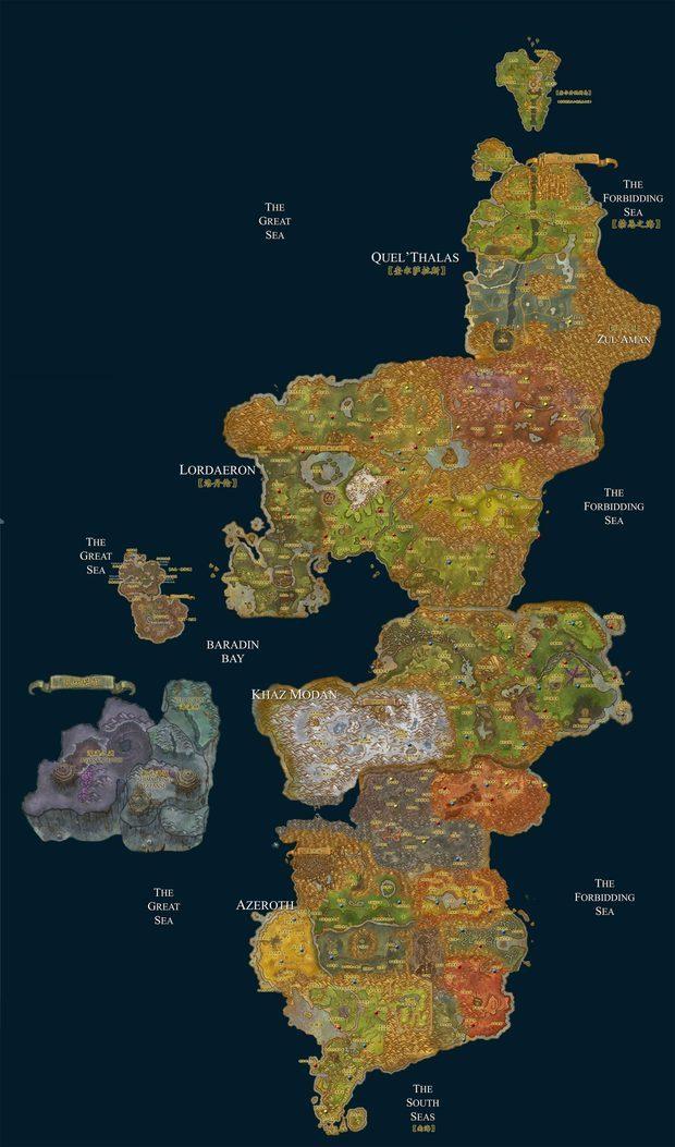 跪求魔兽世界高清地图