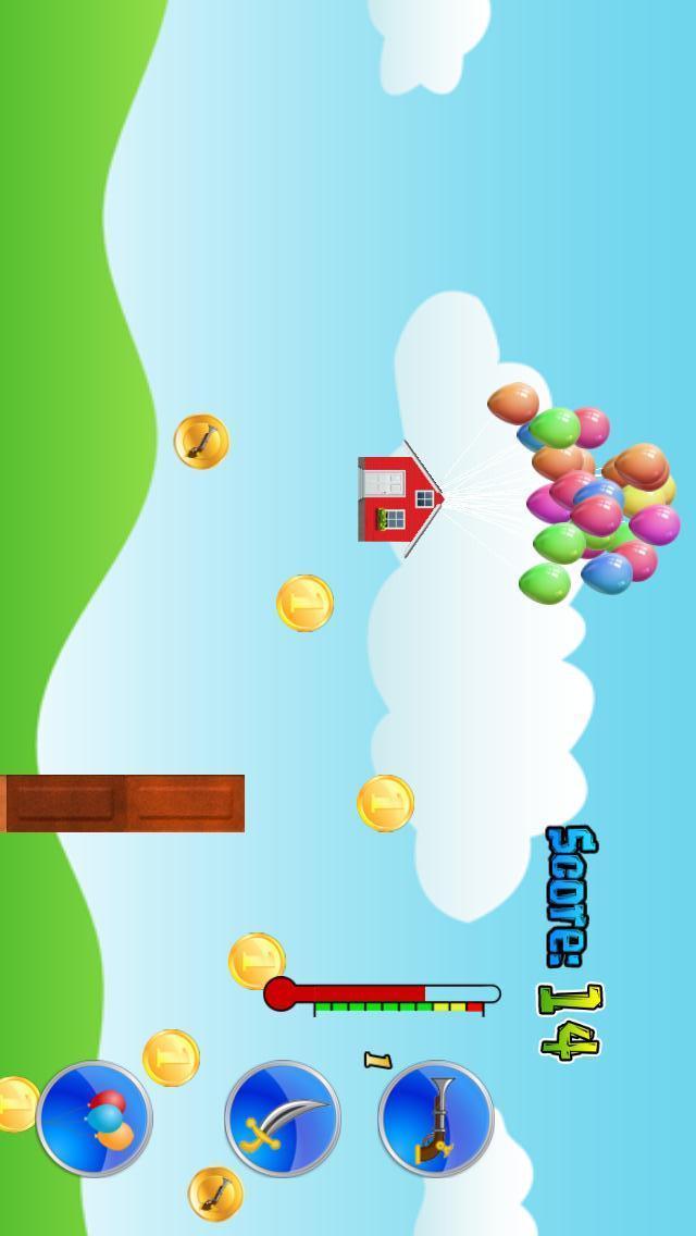 玩法: 用气球让你的房子飞起来,驾驶着它绕过一个又一个的弯道,收集