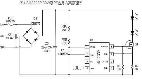 sm2202p 高pf大功率线性恒流电源芯片30w应用方案?