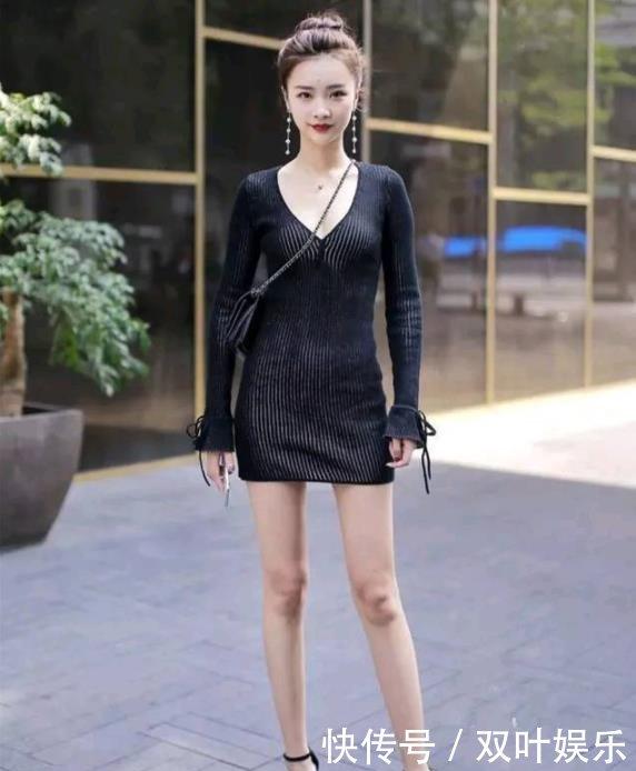 街拍时尚身穿短裙指标感冒验血细菌性的包臀身材,性感美女,一双白图片