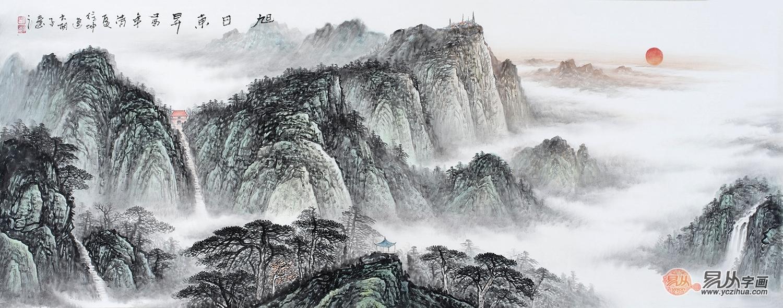 文艺 绘画艺术研究杂谈 > 国画山水画鉴赏下来之日出山水画欣赏   这