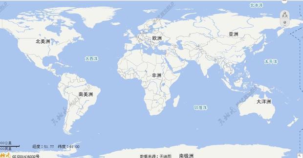 北半球世界地图矢量图简化