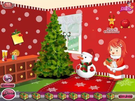 熊出没游戏大全 圣诞节商店 浪漫的圣诞屋 可爱宝贝爱干净 美好圣诞之