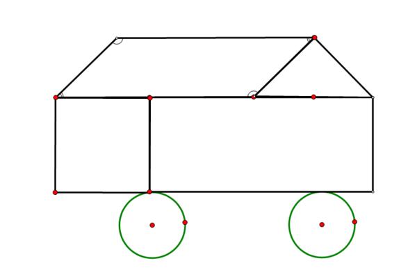 用长方形 正方形 圆形 三角形 平行四边形设计一个几何图形