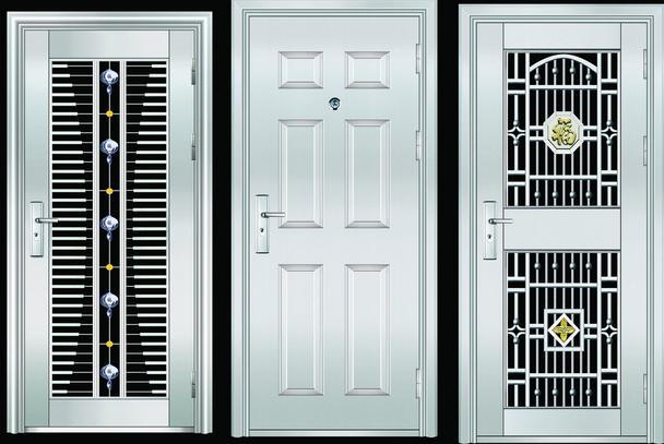 不锈钢门就是是用不锈钢钢板材料加工而成的门,和普通的门外观印花一