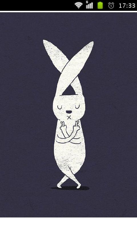 兔子先生手绘高清壁纸