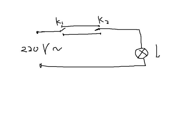 两个开关控制一个并联灯电路图