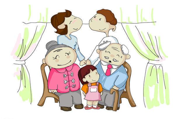 求全家福简笔画 人物(爸爸,妈妈,爷爷,奶奶,我)急急急