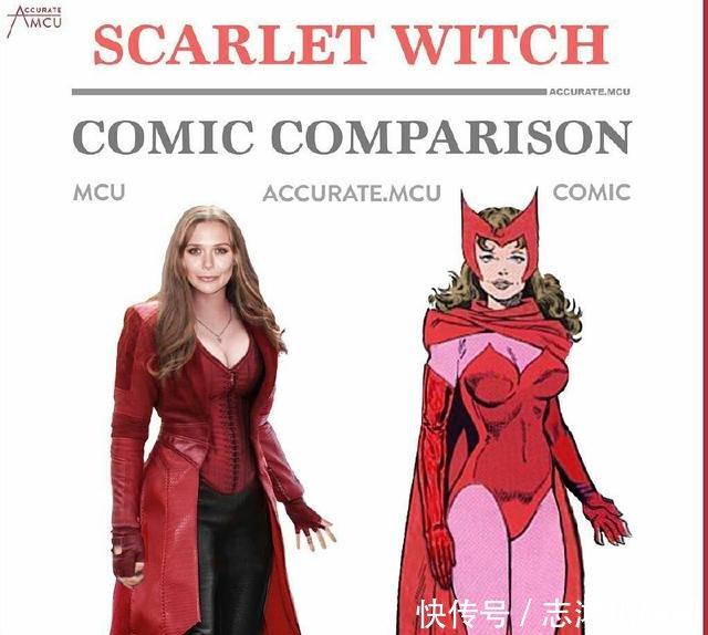 漫威超级原著与形象漫画英雄对比,性感漫画,黑救火女巫图片