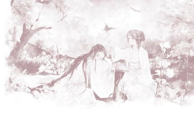 求好看的手绘古装情侣图
