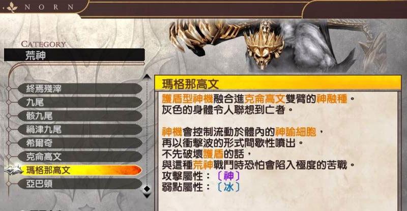 噬神者2狂怒解放荒神图鉴 材料素材表首发