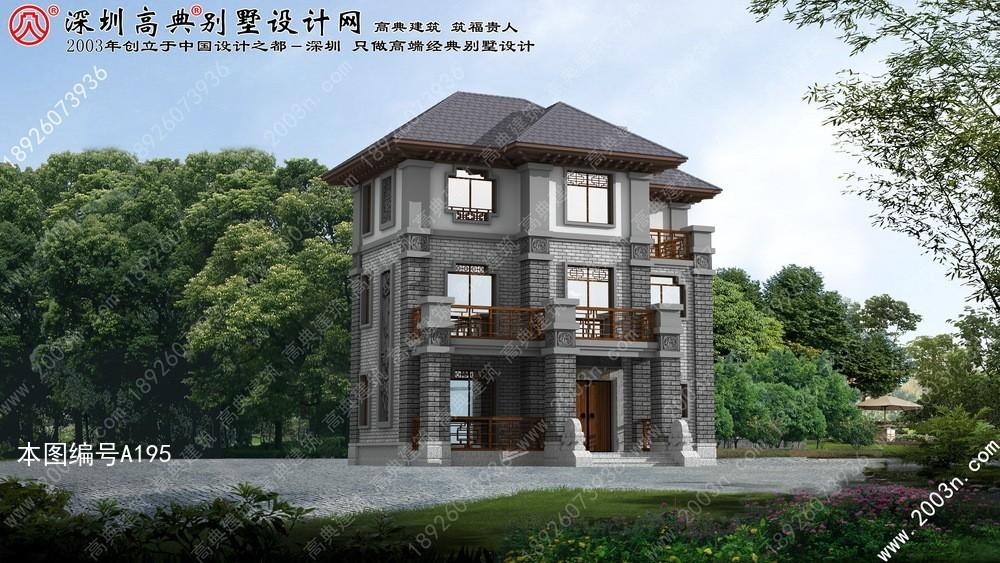 农村小院房屋设计图双拼别墅装修效果图
