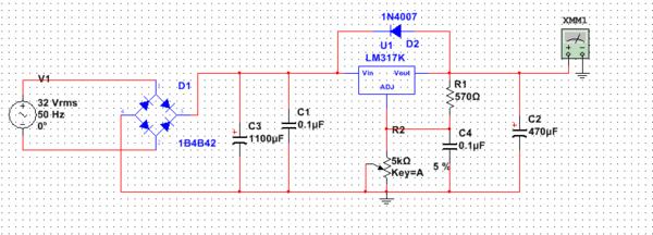 lm317稳压电路输出端并联电容问题!