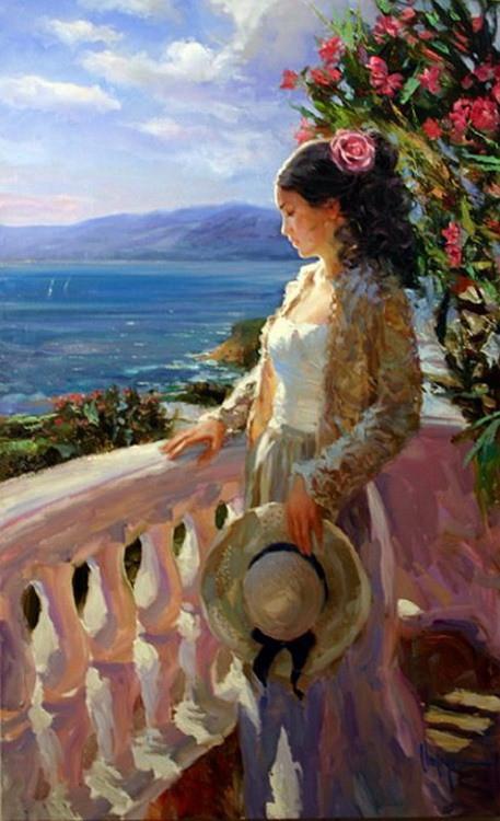观佳艺术 | 参过军的俄罗斯画家,他的油画《海边女人》