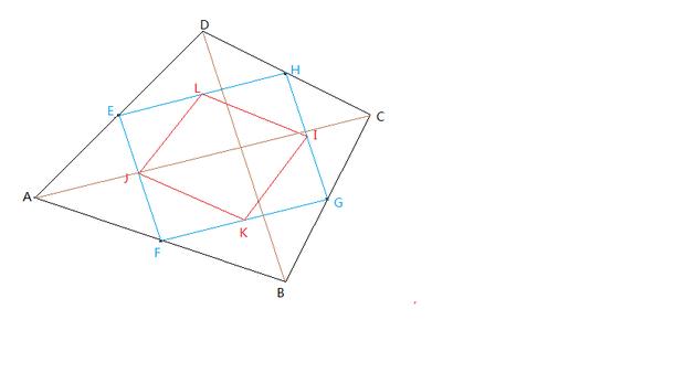 同样可以证四边形jkil也是平行四边形