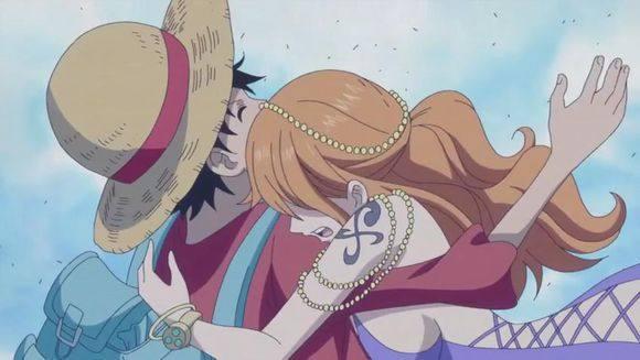 海贼王里唯一一个被路飞公主抱过的女人,女帝都只有羡慕的份儿图片