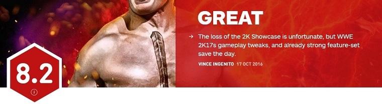 IGN给出《WWE 2K17》评分