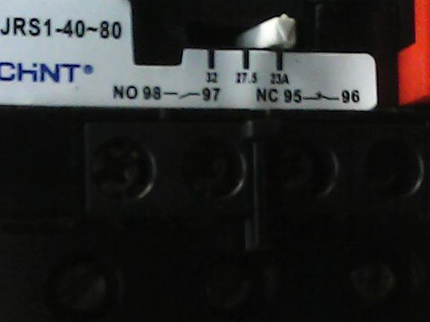 热继电器jrs1-40-80接线图98与97接点是马达起动吗