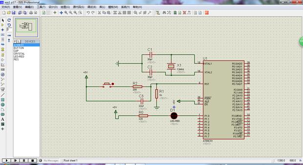 流水灯电路图控制,在一个灯的基础上改为8个