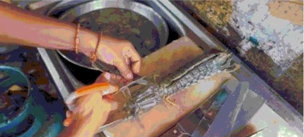 女子花400元买只虾,回家后发现不对头,切开后两眼发傻