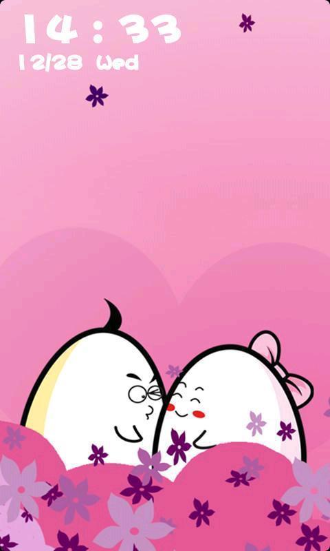 敬请留意 蛋蛋动态壁纸锁屏是一款浪漫温馨可爱惹人的蛋蛋桌面宠物