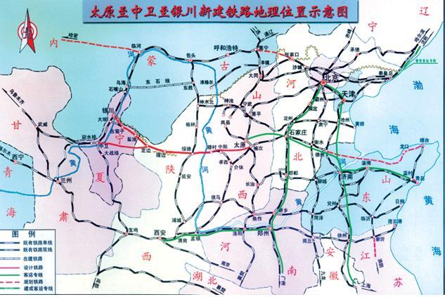太原去青岛的铁路地图