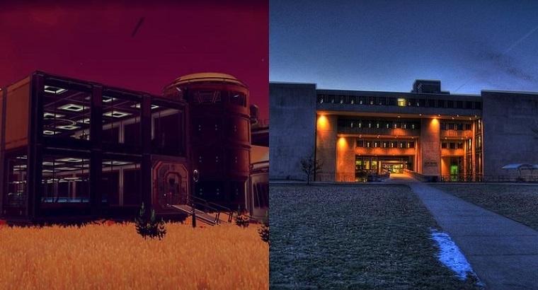 《无人深空》中玩家自己建造的基地