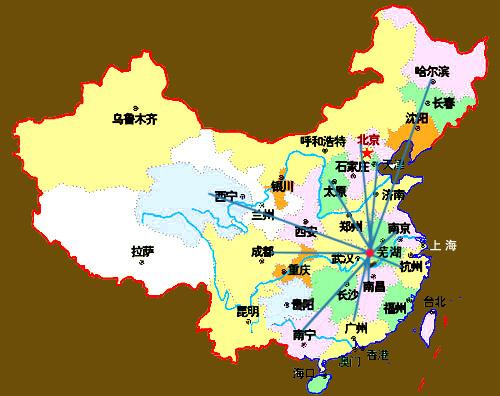 安徽芜湖手绘地图
