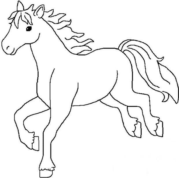 如何画马的简笔画