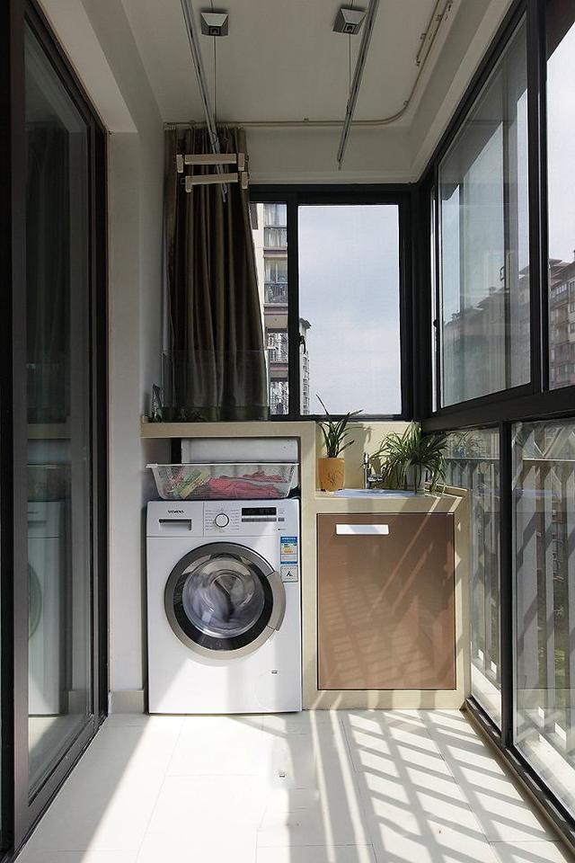 20款精美的阳台洗衣图纸设计,总有一款下载你苏州园林cad适合机柜图片