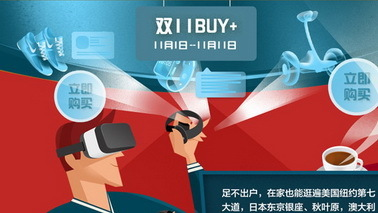 """VR购物新方式""""Buy+""""11月1日上线 购物送双11门票"""