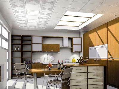 简约欧式厨房玻璃吊顶