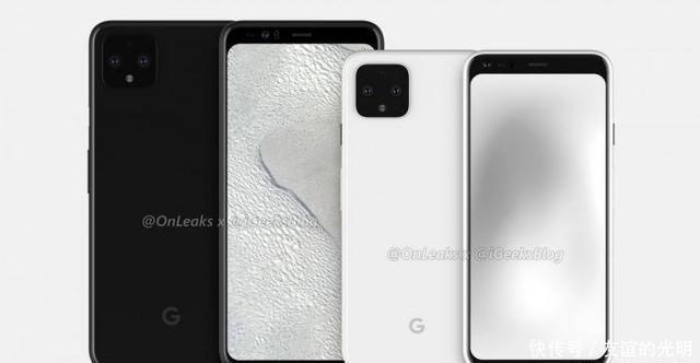 谷歌Pixel4高清渲染图:超宽额头+浴霸后摄