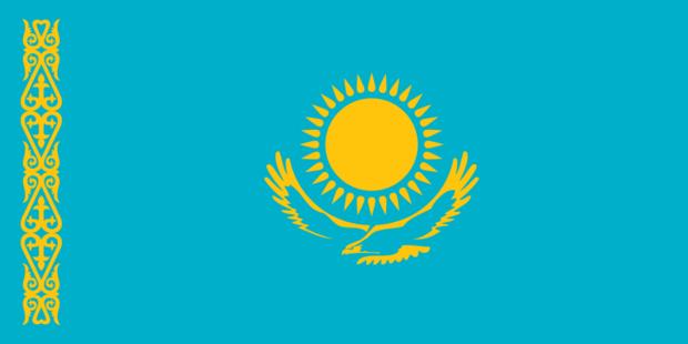 中亚国家国旗 矢量