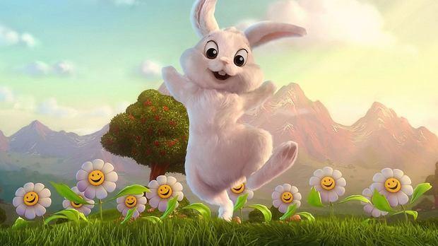 一只变大的兔子的动画